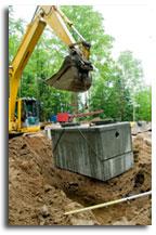 setting a septic tank