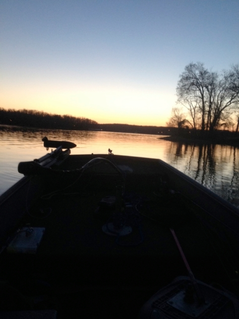 Sunset on Kentucky Lake, April 9, 2014